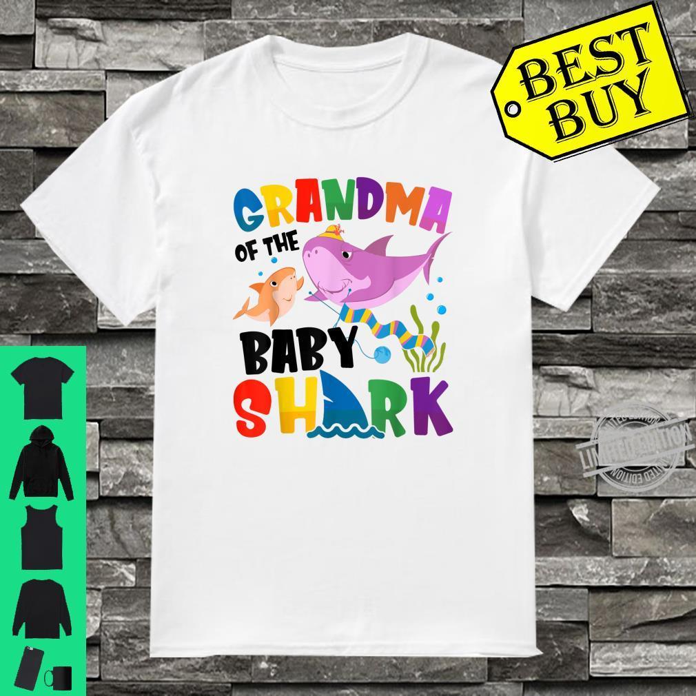 Grandma Of The Baby Shark Mother's Day Shirt