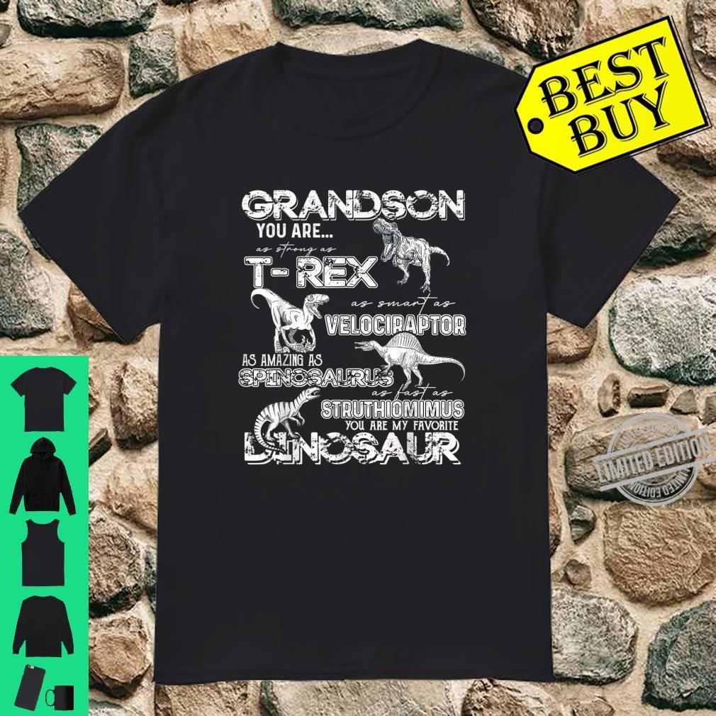 Grandson you are my favorite Dinosaur Shirt