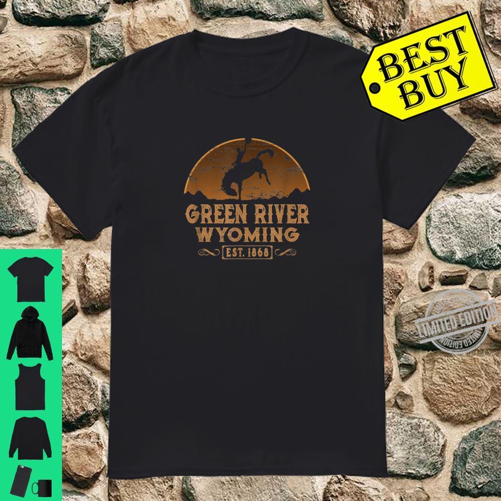 Green River Wyoming WY Wild West Cowboy Shirt