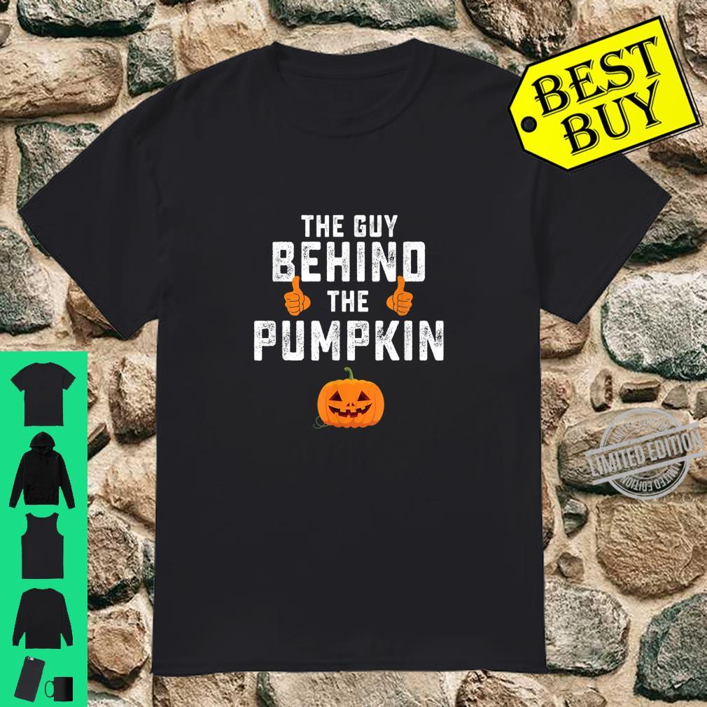 Guy Behind The Pumpkin Halloween Pregnancy Shirt