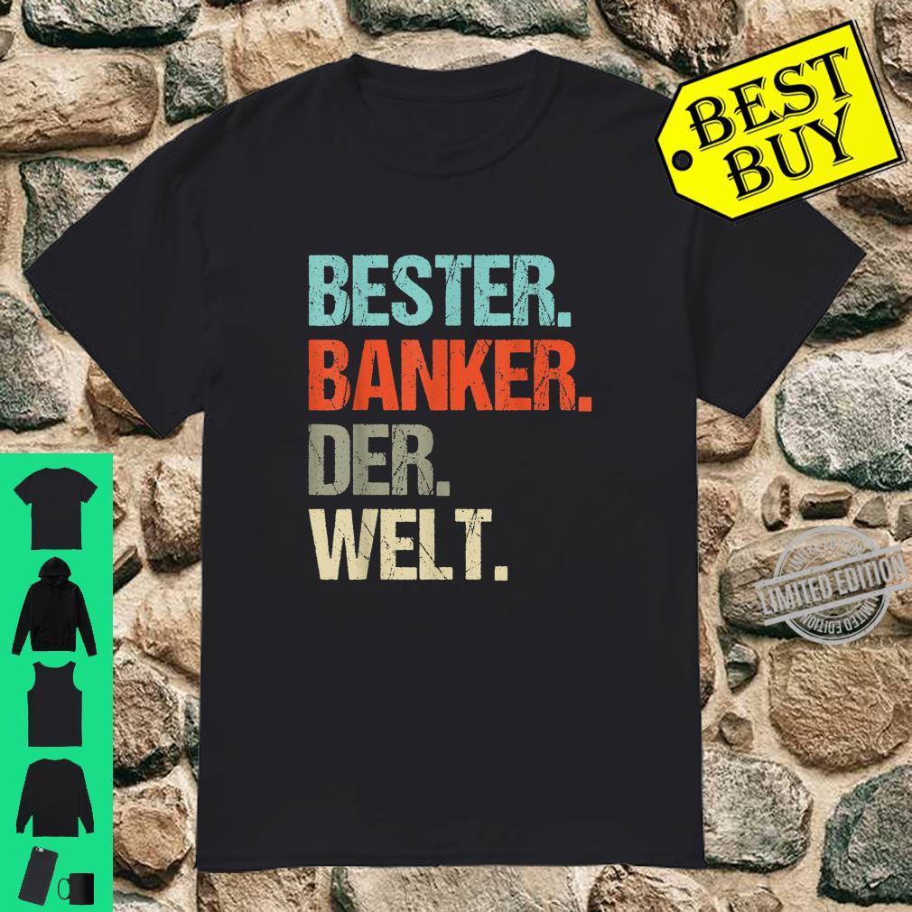 Herren Banker Geschenk Bester Banker Der Welt Bank Retro Shirt