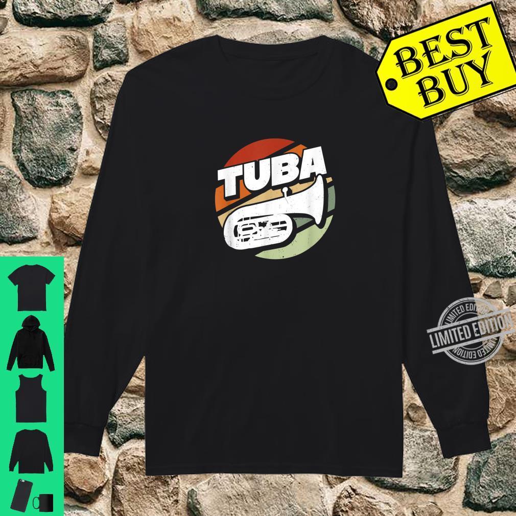Herren Bass Tuba Tubaspieler Tubist Musik Musiker Instrument Band Shirt long sleeved