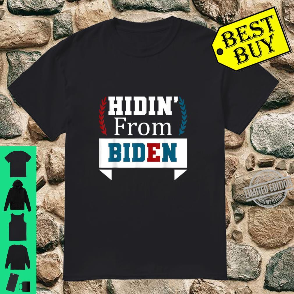 Hiding from Biden for President 2020 Political Shirt