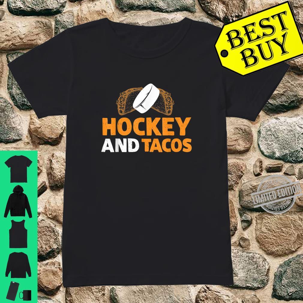 Hockey And Tacos Sports Taco Tuesday Shirt ladies tee