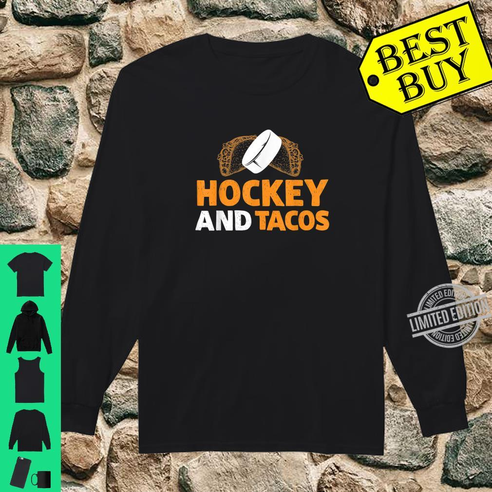Hockey And Tacos Sports Taco Tuesday Shirt long sleeved