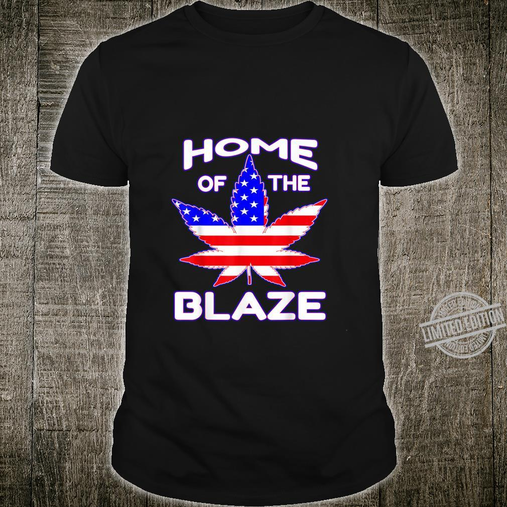 Home Of The Blaze Weed American Flag Shirt