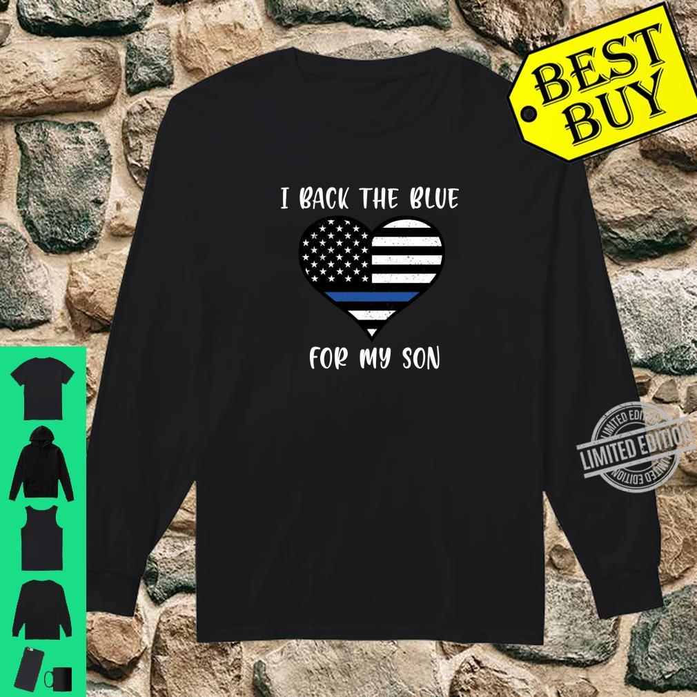 I Back The Blue For My Son Police Shirt long sleeved