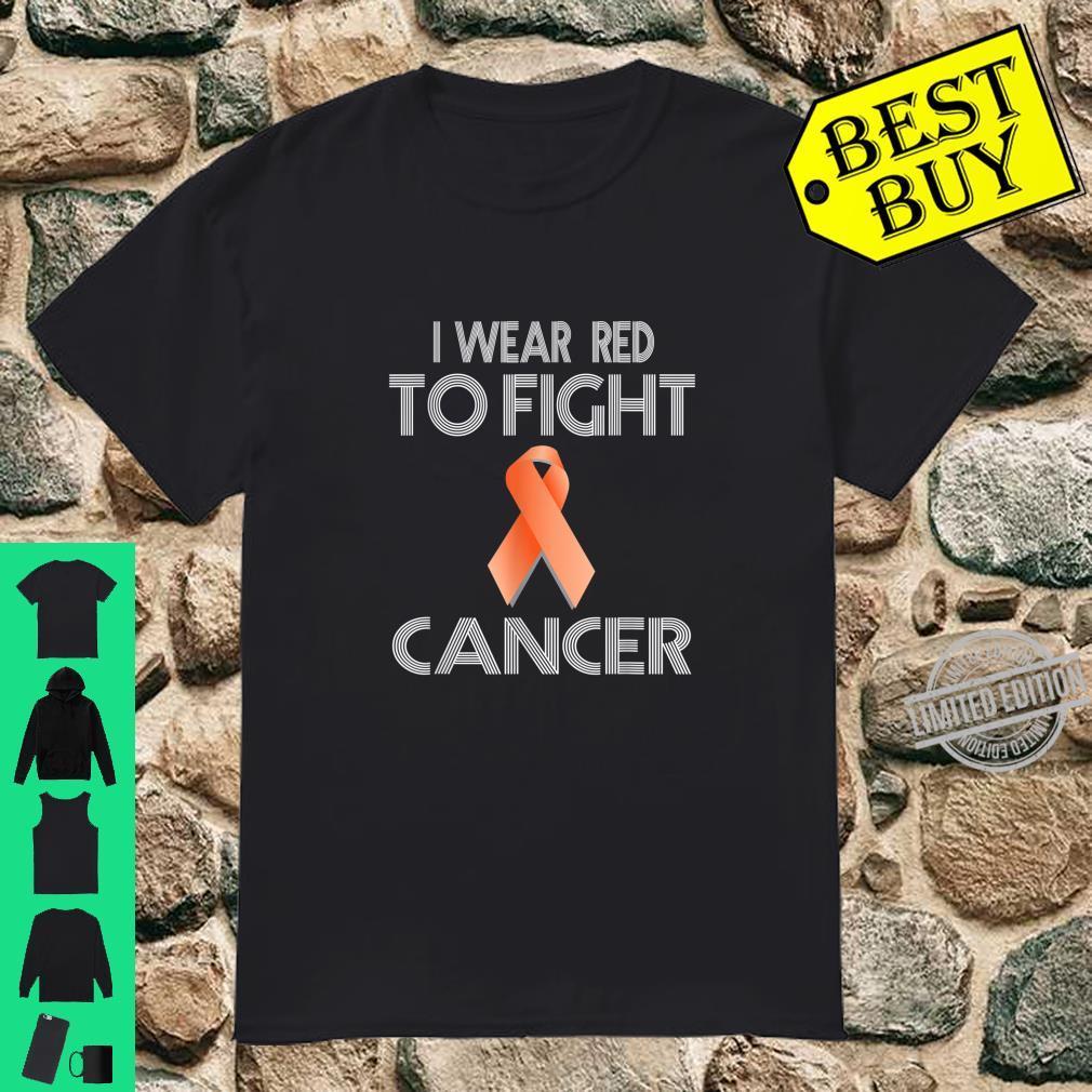 I wear red to fight Cancer shirt Awareness Lymphoma Shirt