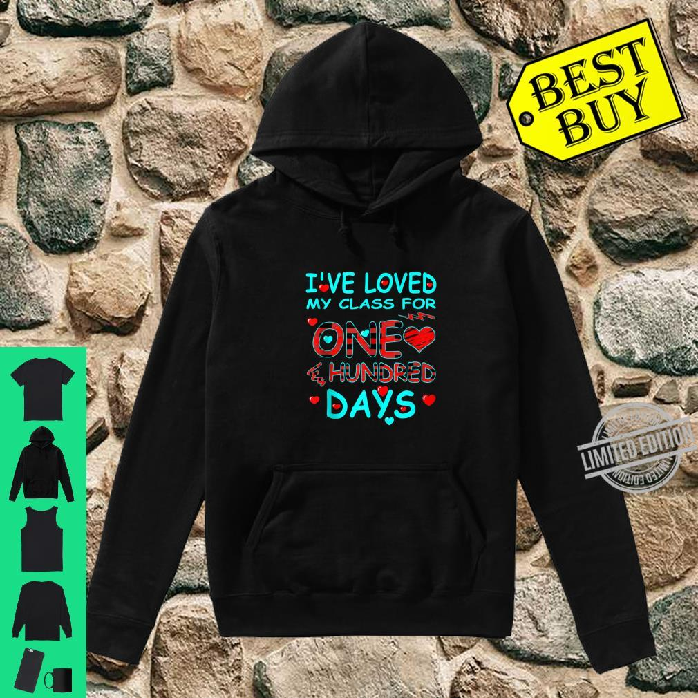 I've Loved My Class For 100 Days Of School Buffalo Plaid Shirt hoodie
