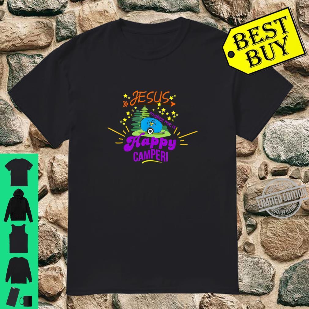 Jesus Makes Me a Happy Camper Christian Shirt