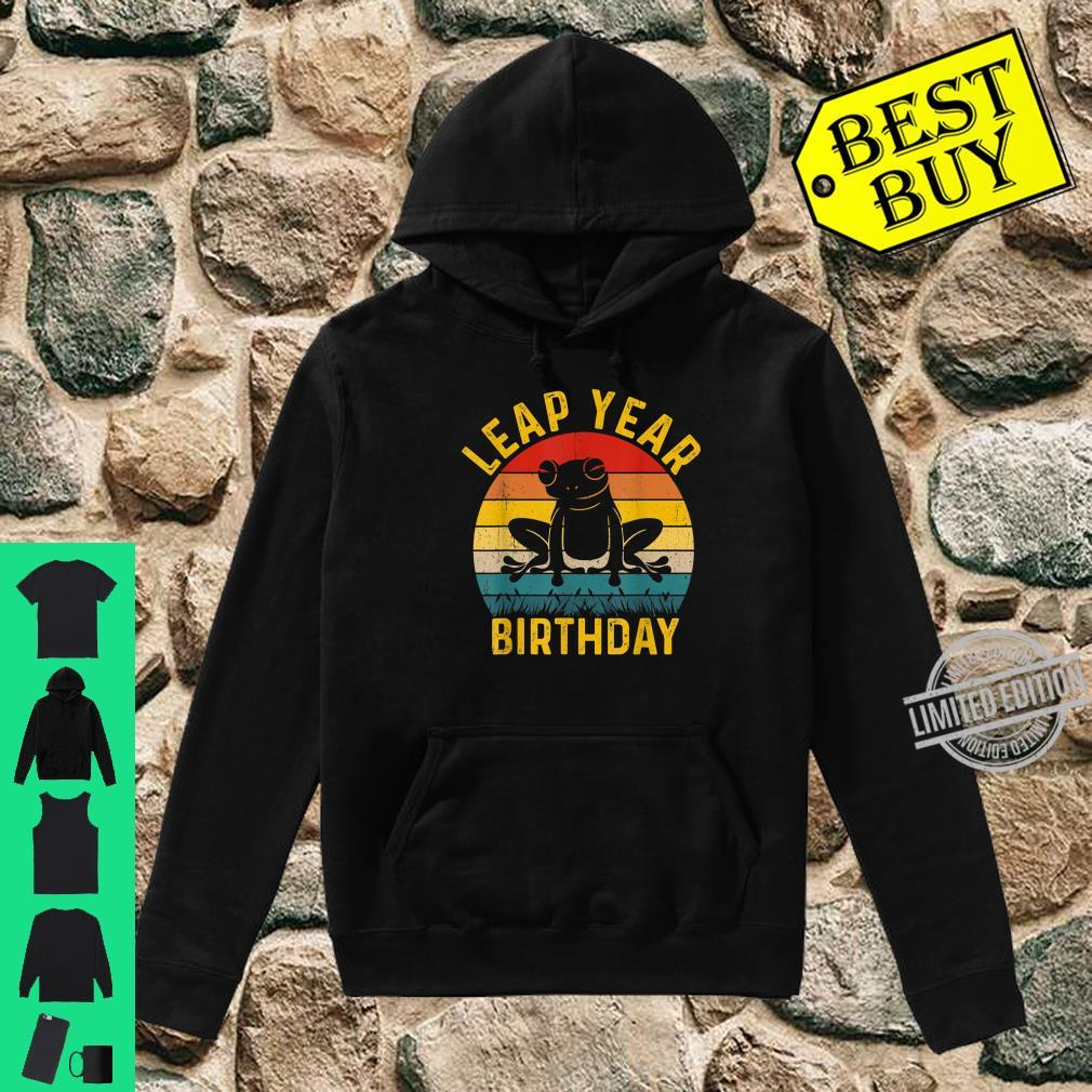 Leap Year Birthday Vintage February 29 Leap Day Frog Shirt hoodie