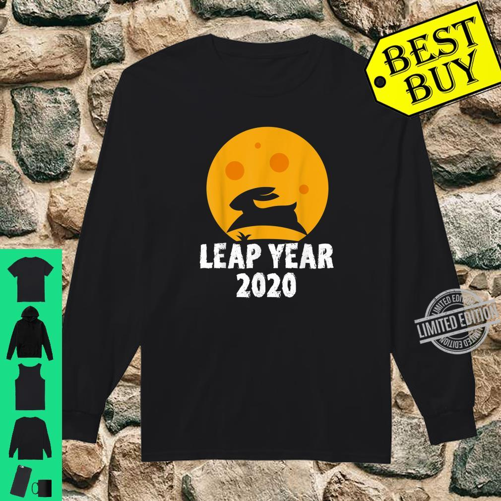 Leap Year February 29th 2020 Leap Day Rabbit Jump Shirt long sleeved