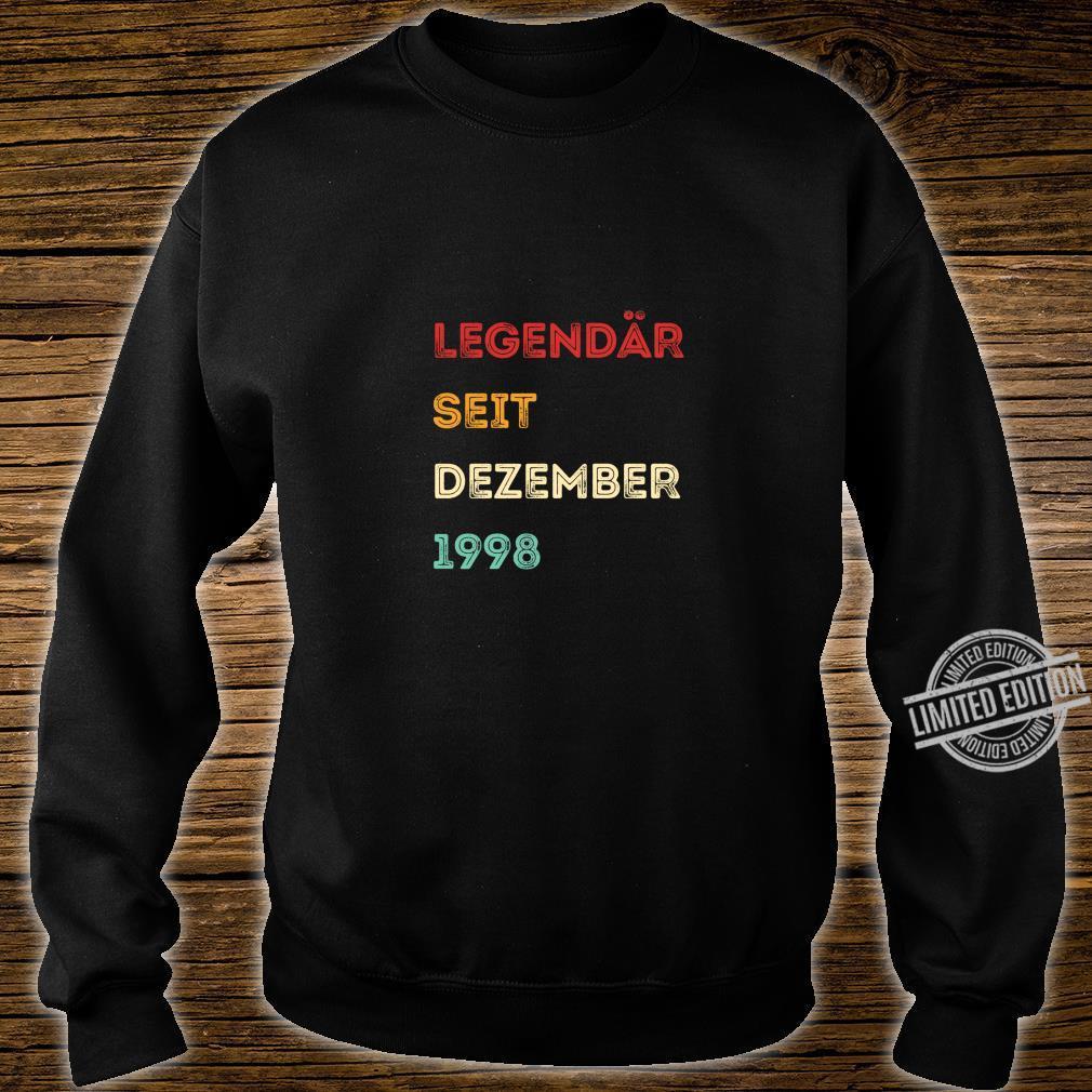 Legendär seit Dezember 1998 21. Geburtstag Langarmshirt Shirt sweater