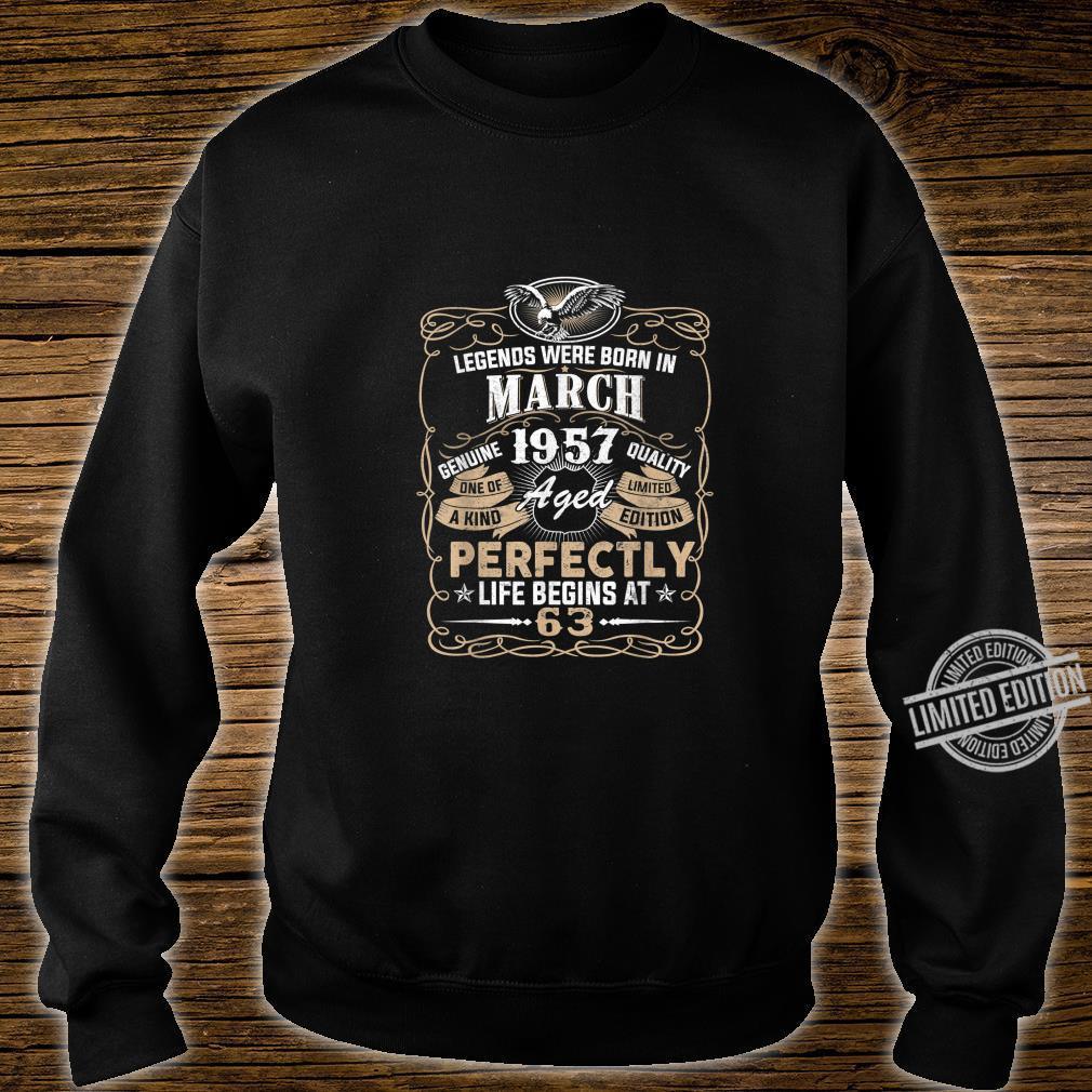 Legends Born In MARCH 1957 63rdth Awesome Birthday Shirt sweater