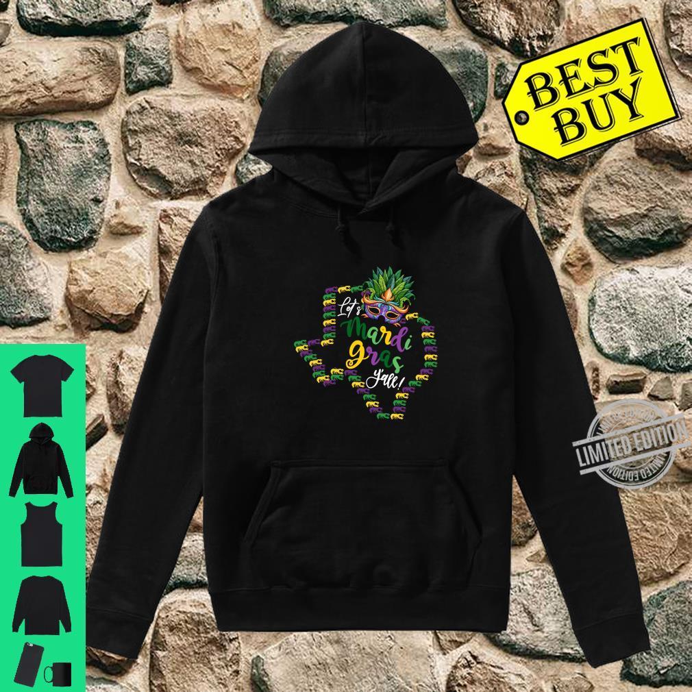 Let's Mardi Gras Y'all Texas Galveston Souvenir w Crawfish Shirt hoodie