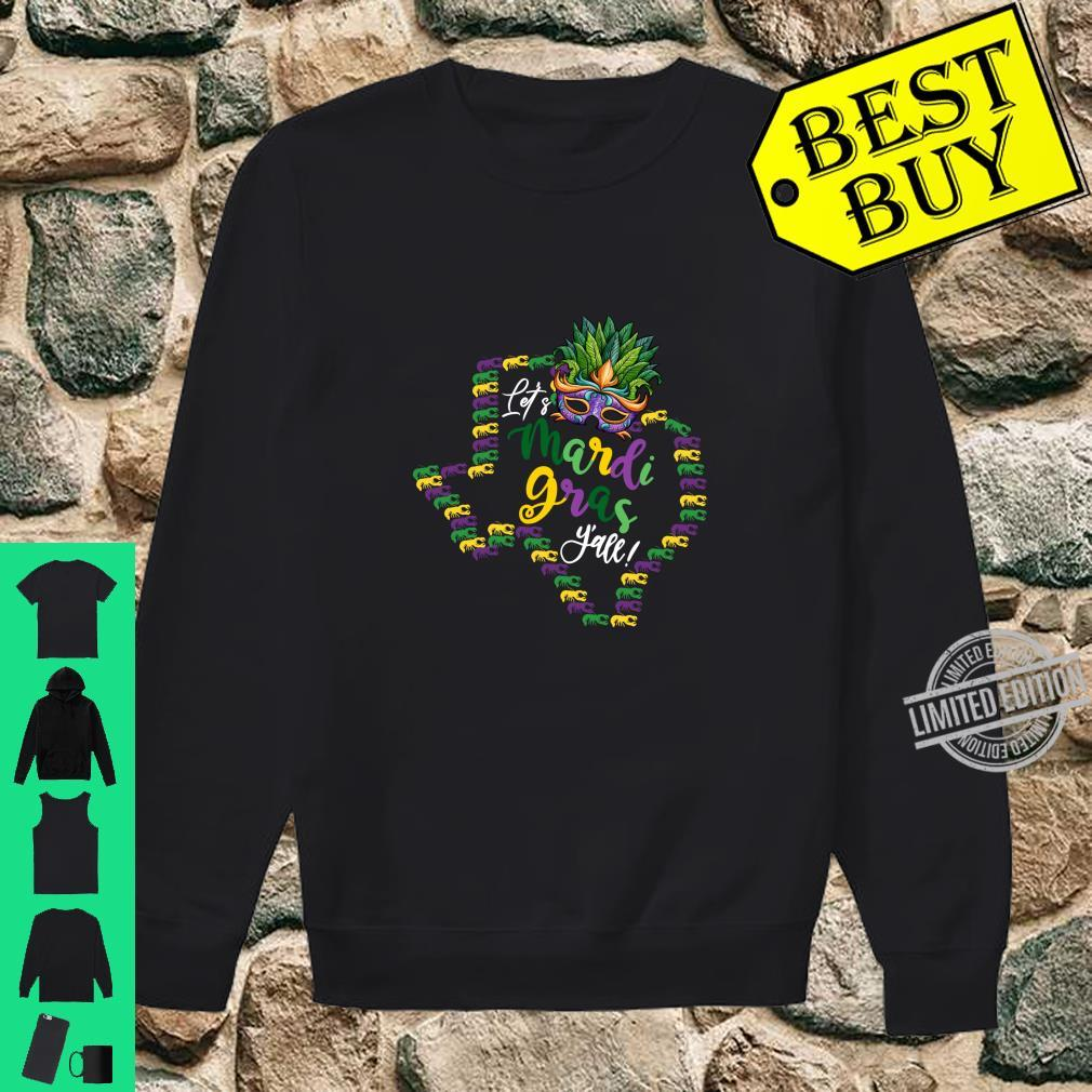 Let's Mardi Gras Y'all Texas Galveston Souvenir w Crawfish Shirt sweater