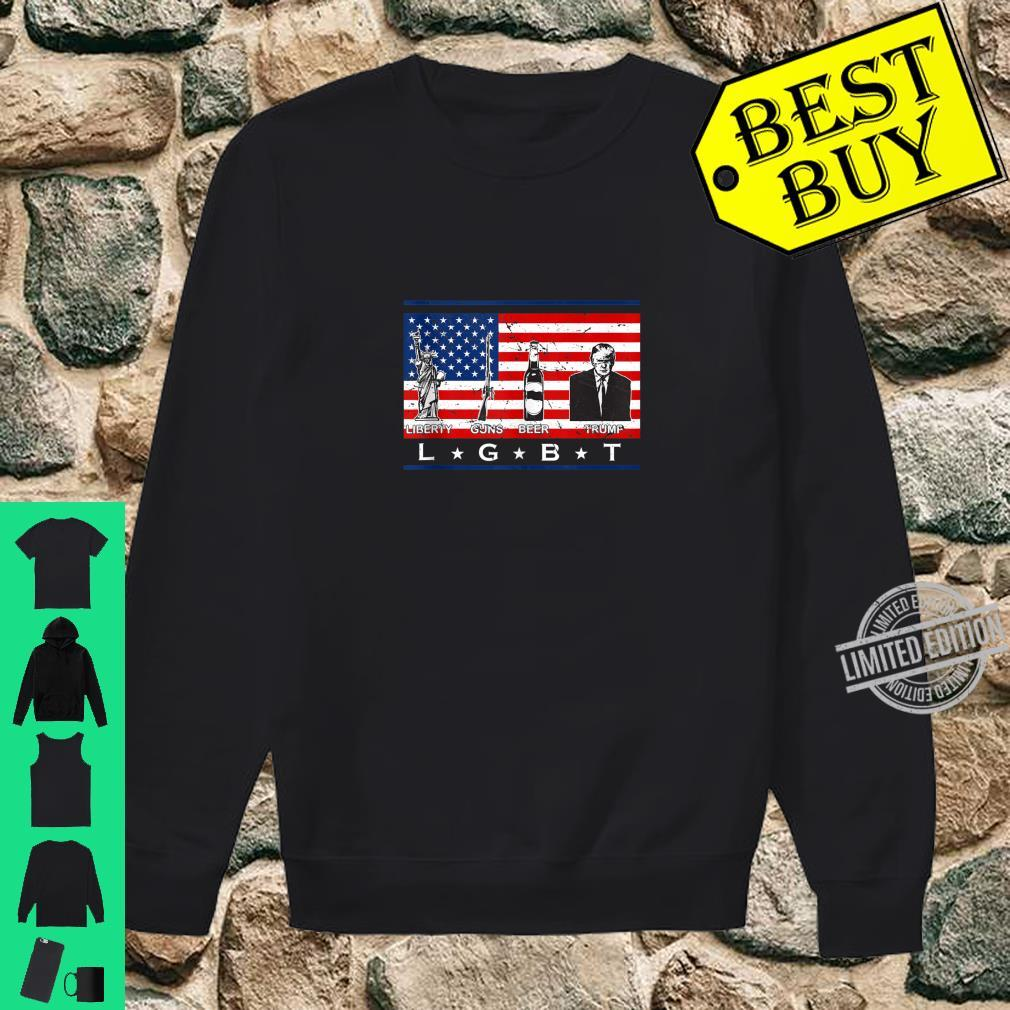 Liberty Guns Beer Trump Shirt LGBT Parody Support Shirt sweater