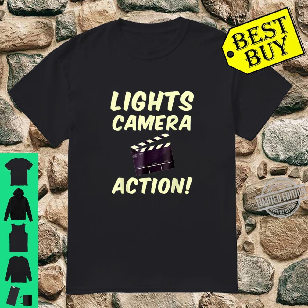 Lights Camera Action Clapper board Film Makers Shirt