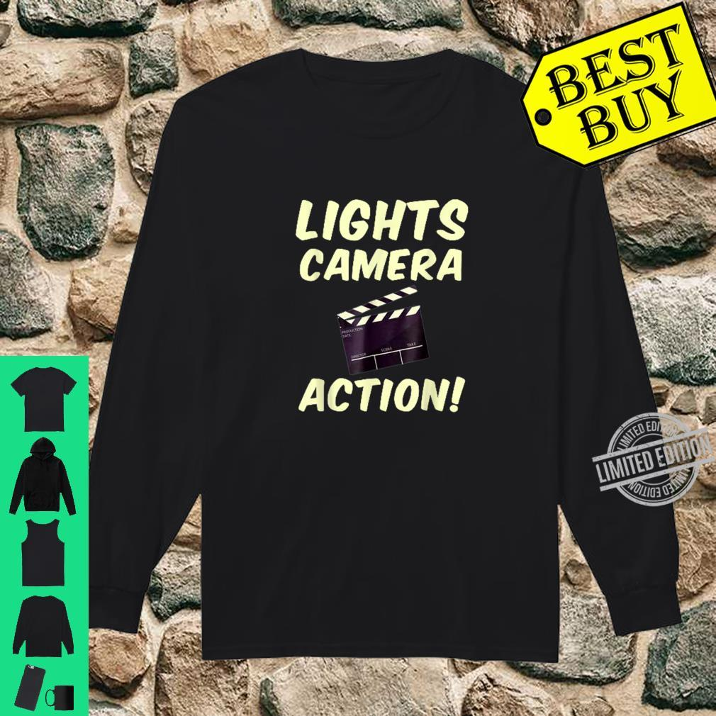 Lights Camera Action Clapper board Film Makers Shirt long sleeved