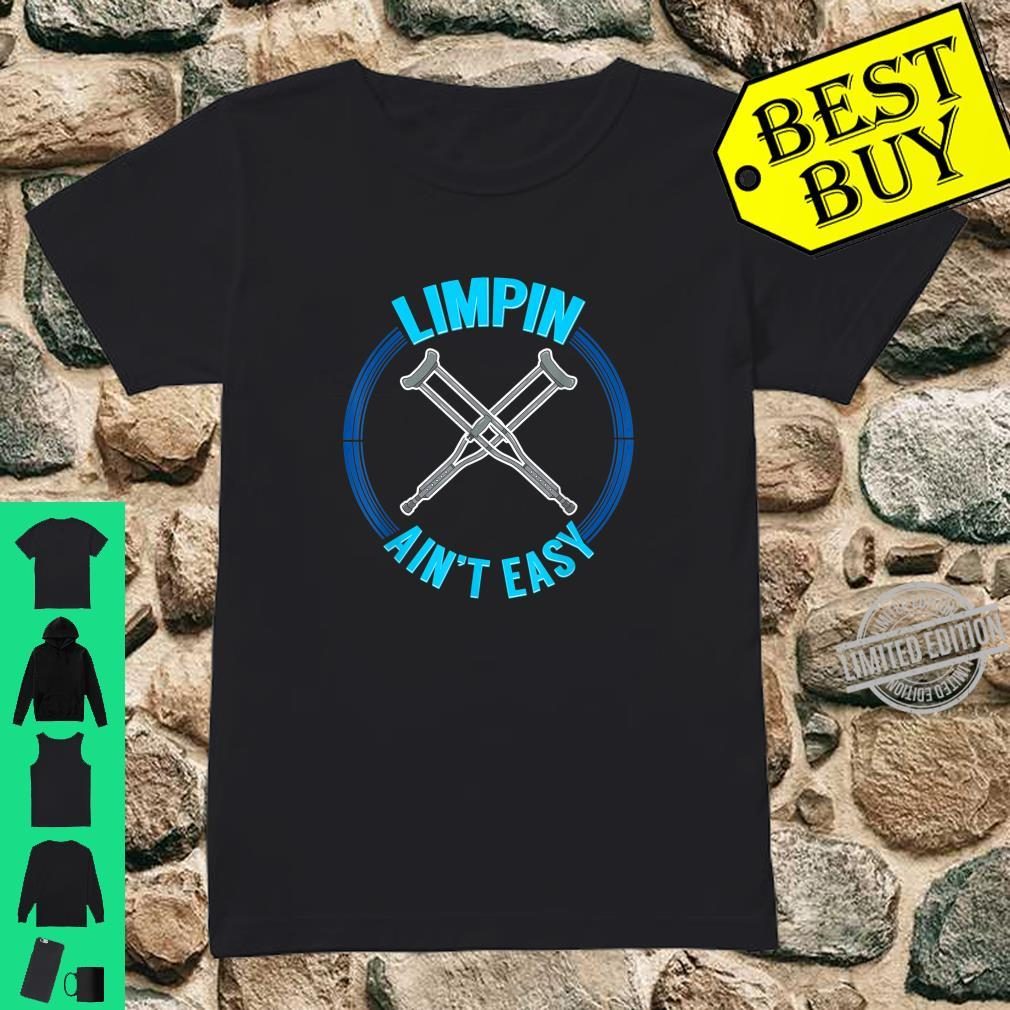 Limpin Aint Easy Therapy Physical Therapist Shirt ladies tee