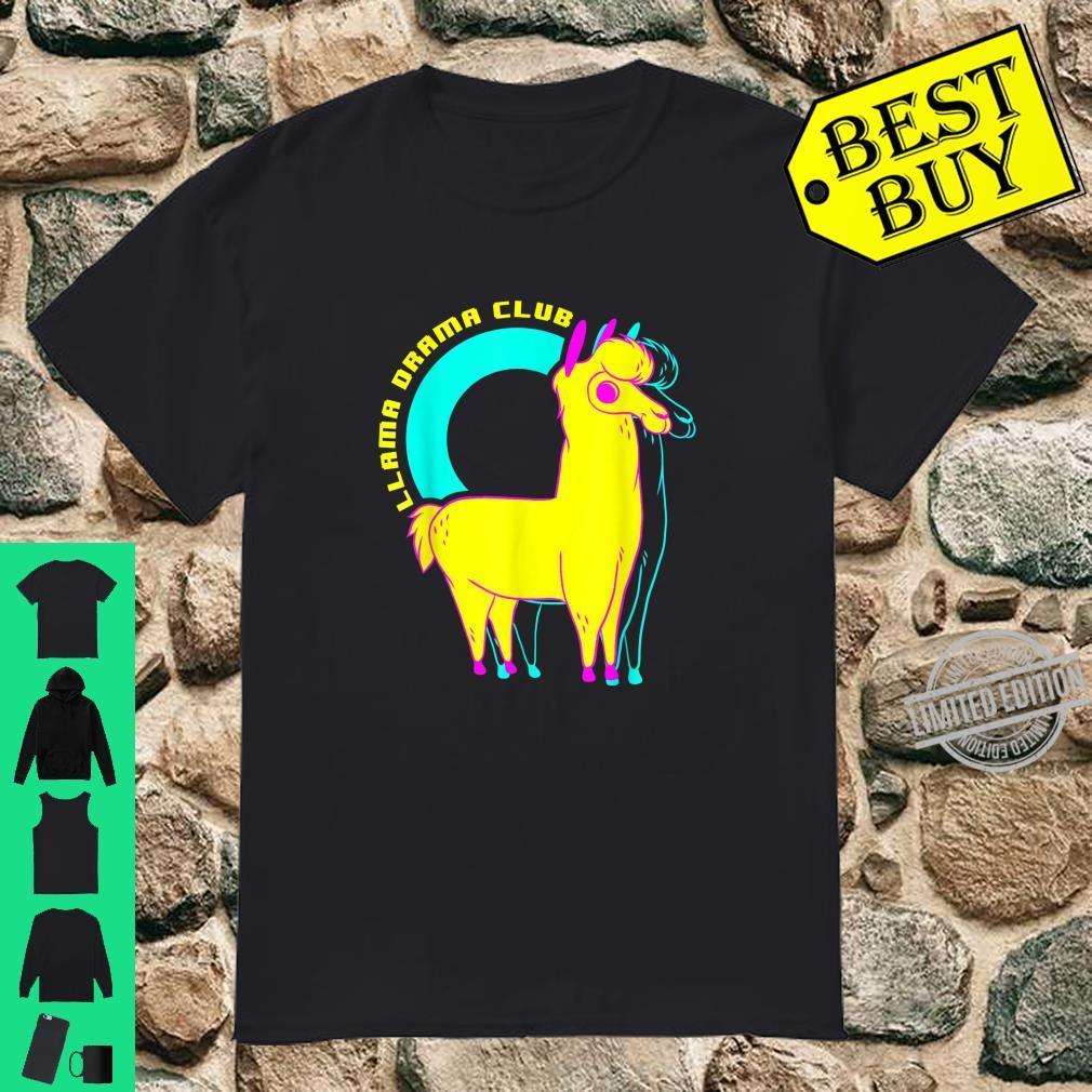Llama Drama Club 80s colorful stylish art Shirt