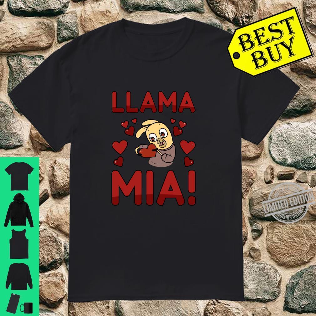Llama Mia Valentines Day Love Heart Shirt