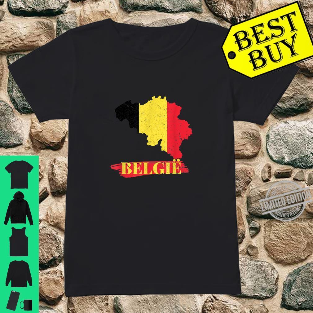Länder Flagge Fussball I Belgien Soccer Turnier Trikot & Shirt ladies tee