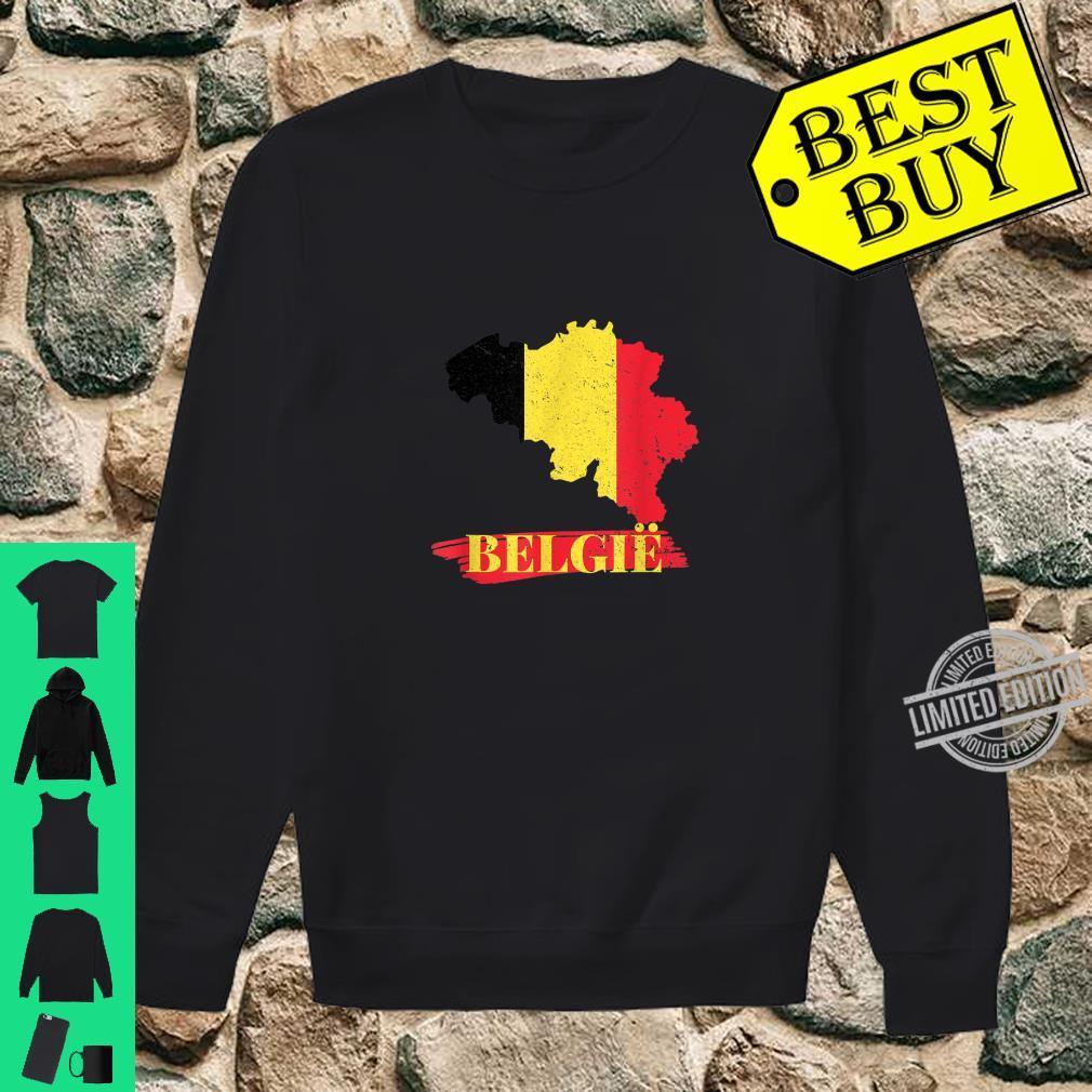 Länder Flagge Fussball I Belgien Soccer Turnier Trikot & Shirt sweater