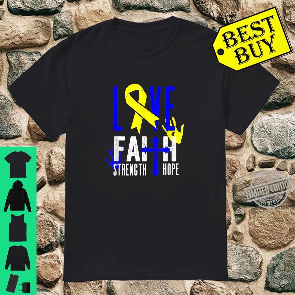 Love Faith Give Strength To Cancer Awareness Shirt