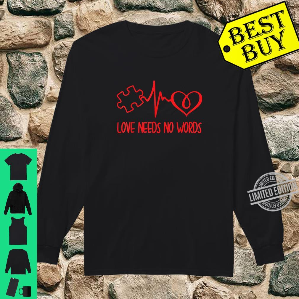 Love Needs No Words Puzzle Heart Autism Awareness Shirt long sleeved