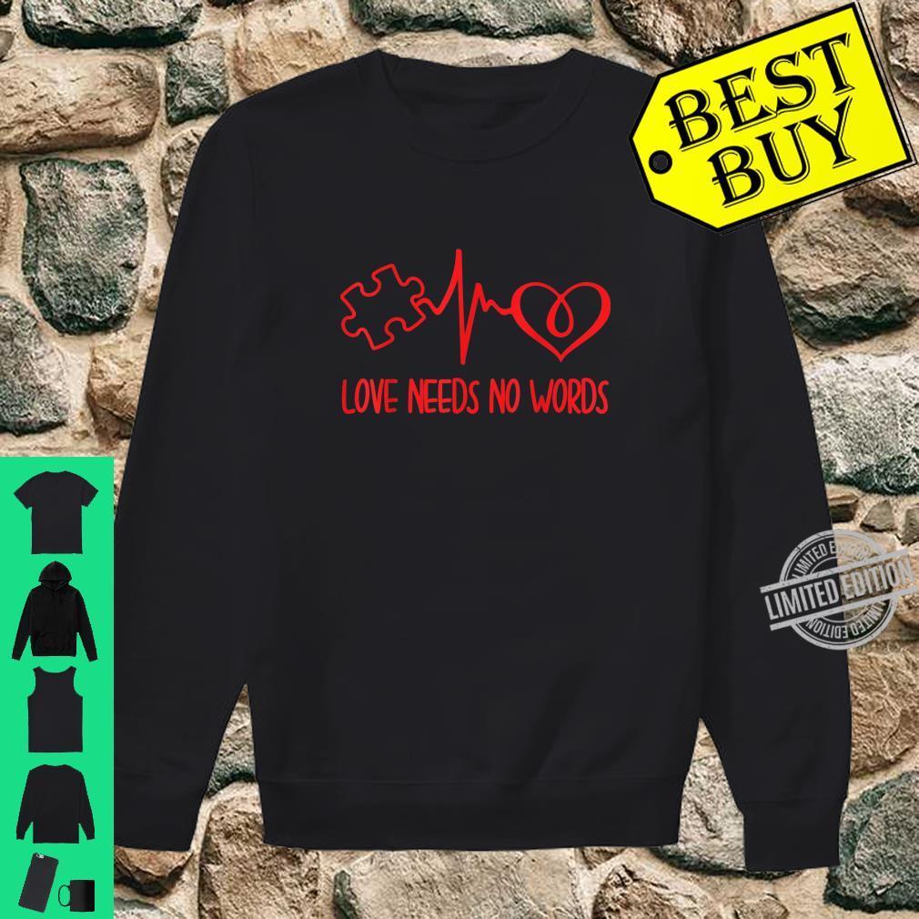 Love Needs No Words Puzzle Heart Autism Awareness Shirt sweater