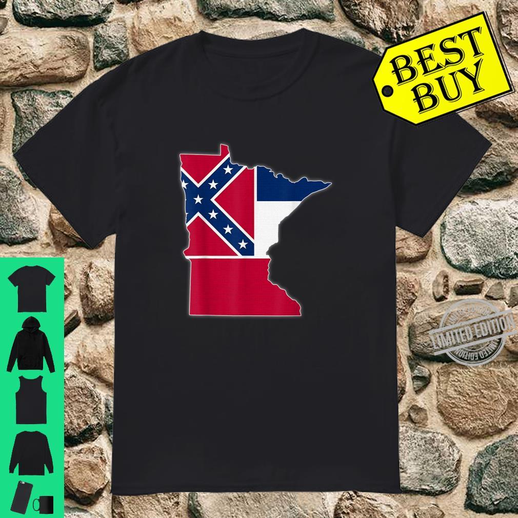 MINNESOTA STATE MAP MISSISSIPPI MS Flag Roots Shirt