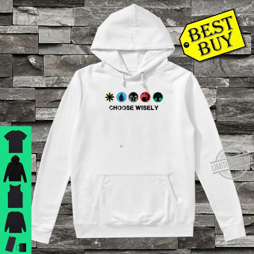 Mana Symbols Gathering Magic Choose Wisely Blue Red Green Shirt hoodie