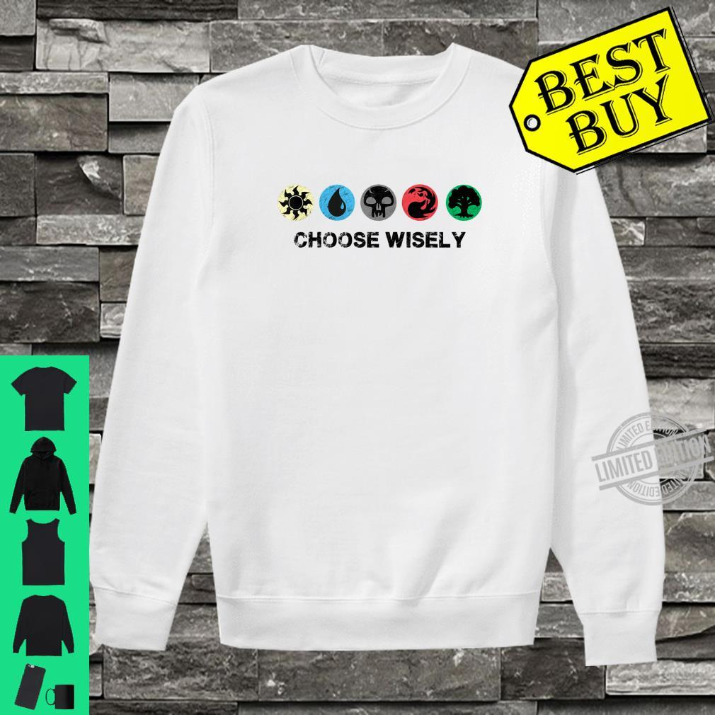 Mana Symbols Gathering Magic Choose Wisely Blue Red Green Shirt sweater