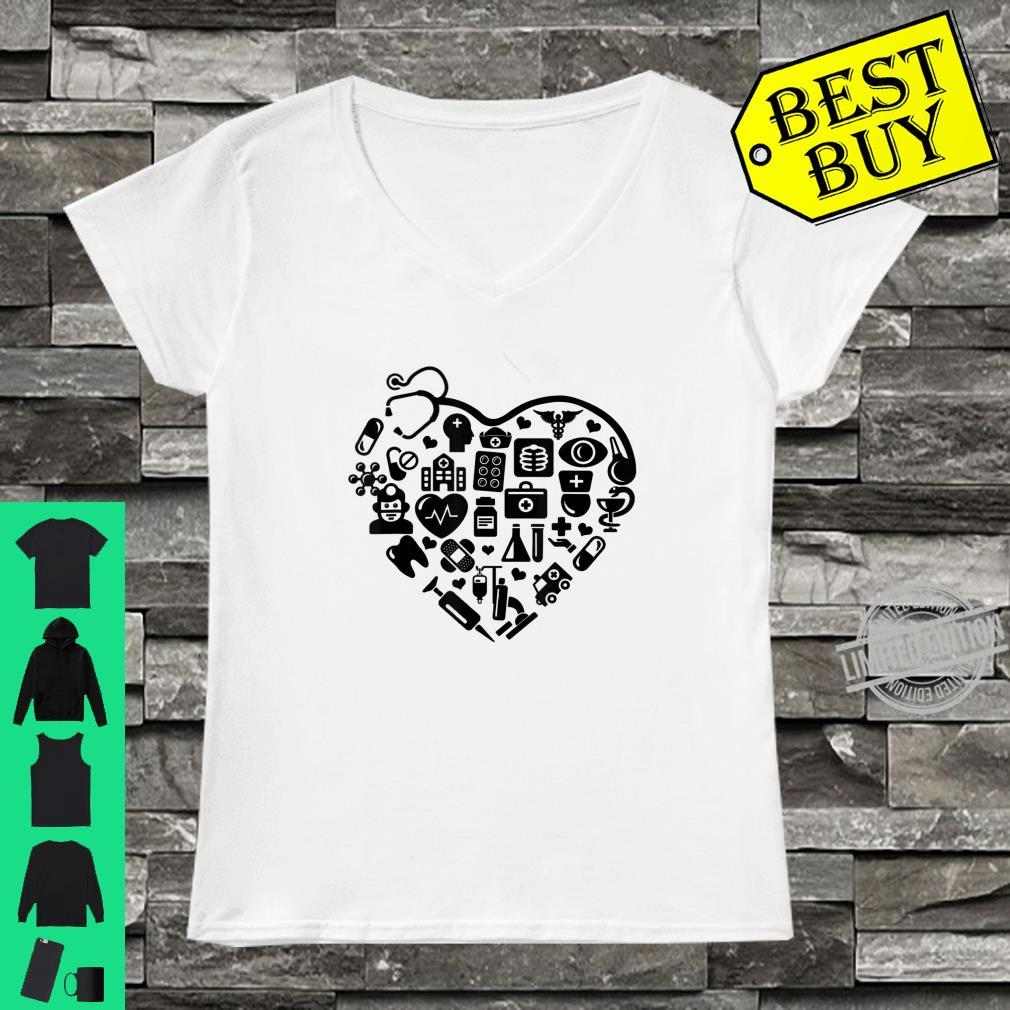 Medical Nursing Assistant Assistant Collage Stethoscope Shirt ladies tee