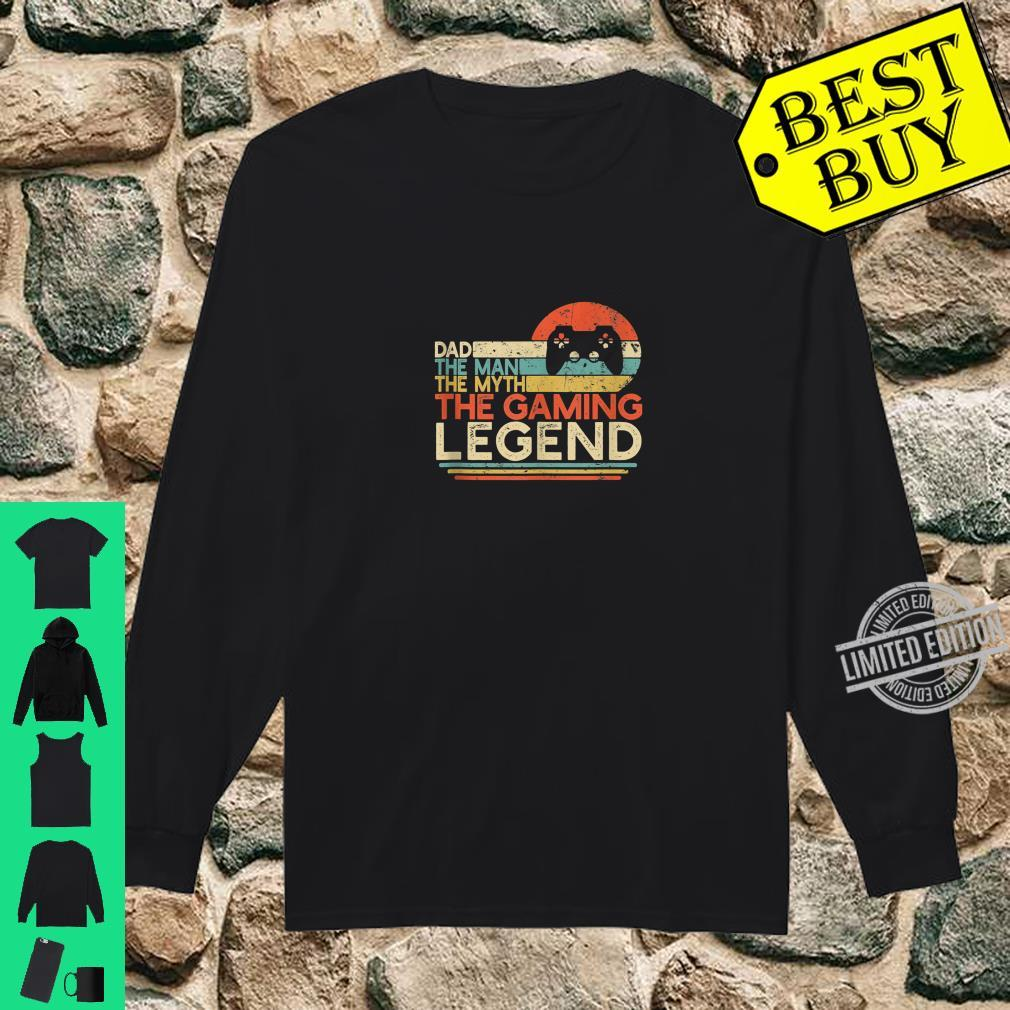 Mens Gamer Dad The Man The Myth The Gaming Legend Game Player Shirt long sleeved