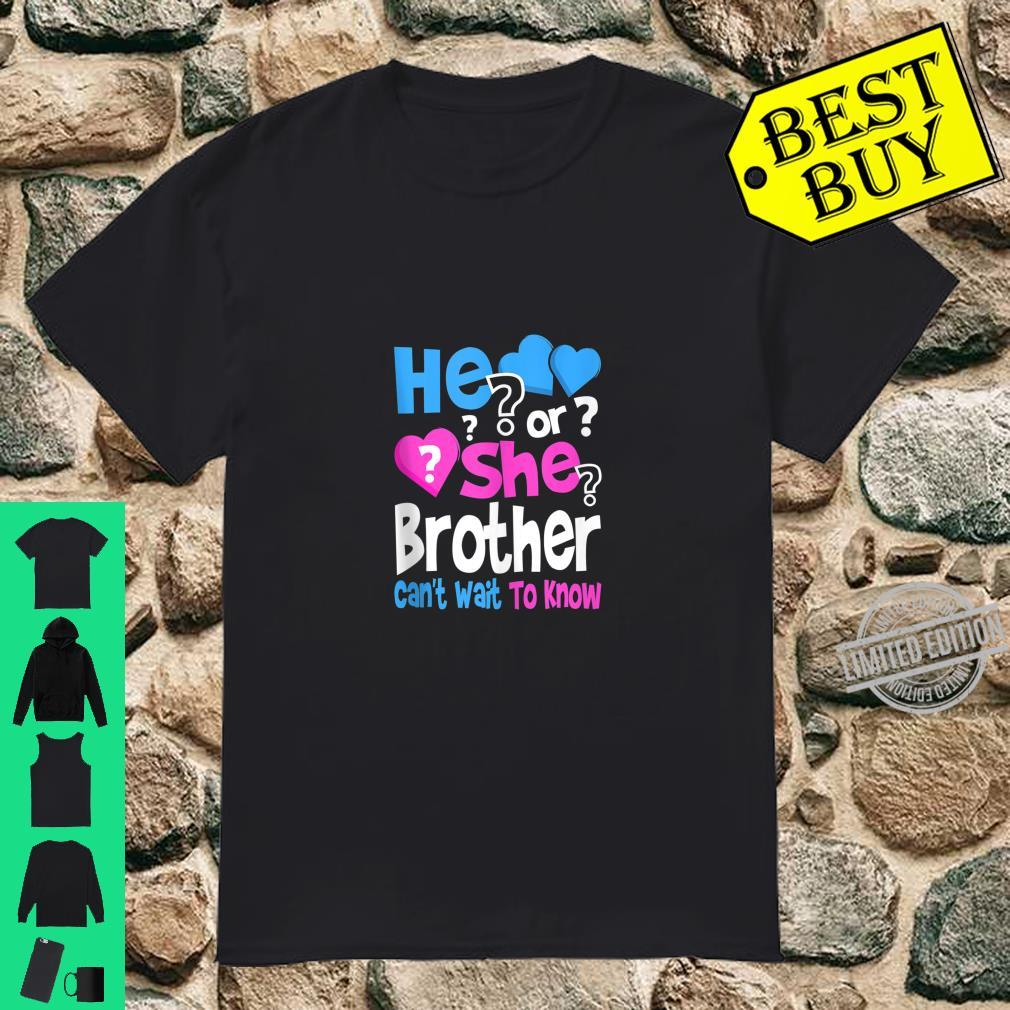 Mens He or She Daddy Can't Wait To Know Gender Reveal Party Shirt