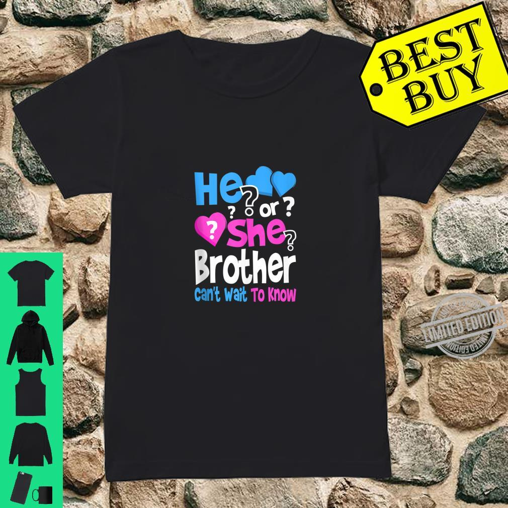 Mens He or She Daddy Can't Wait To Know Gender Reveal Party Shirt ladies tee