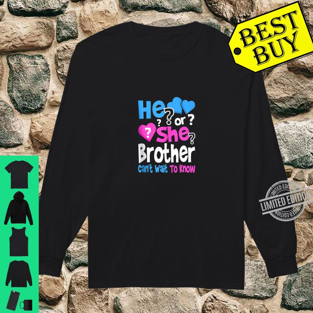 Mens He or She Daddy Can't Wait To Know Gender Reveal Party Shirt long sleeved