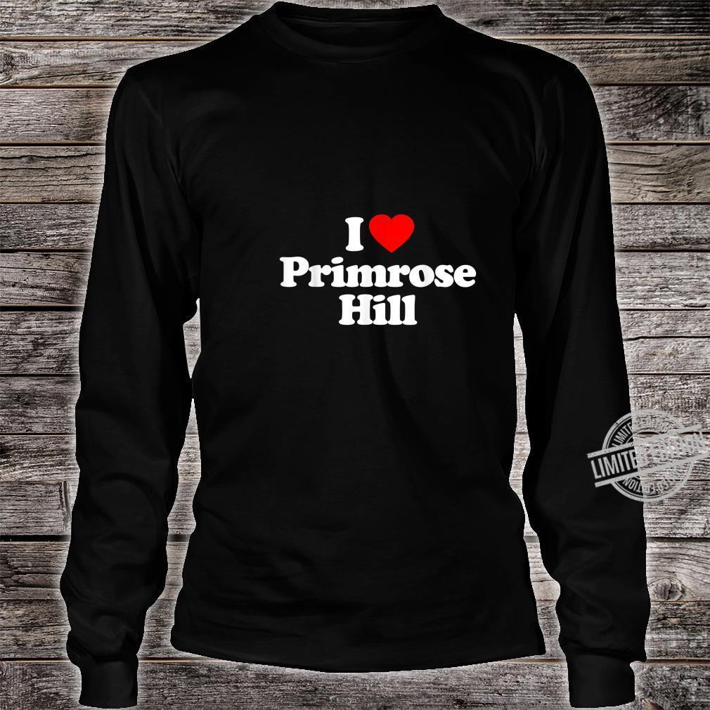Mens I Love Primrose Hill Heart British Tourist Souvenir Shirt long sleeved