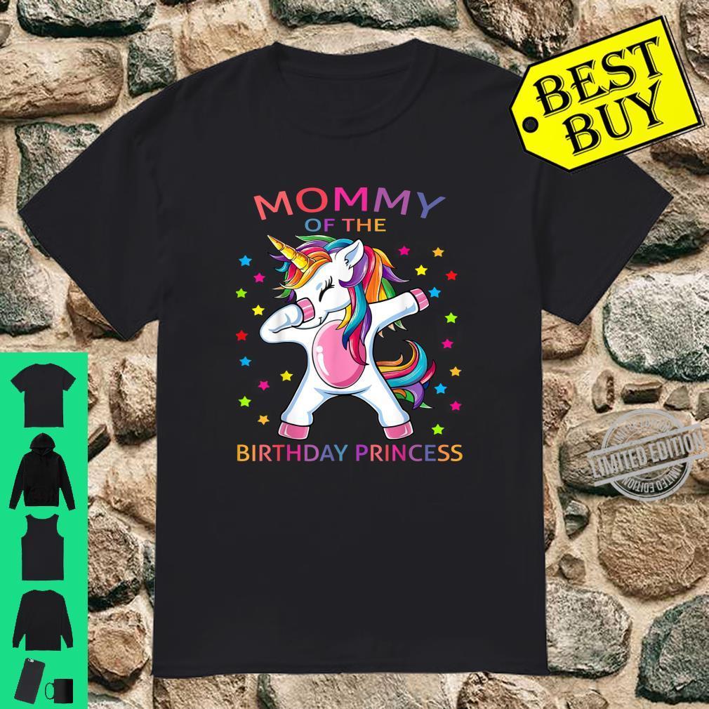 Mommy Of The Birthday Girl Mother Unicorn Birthday Shirt