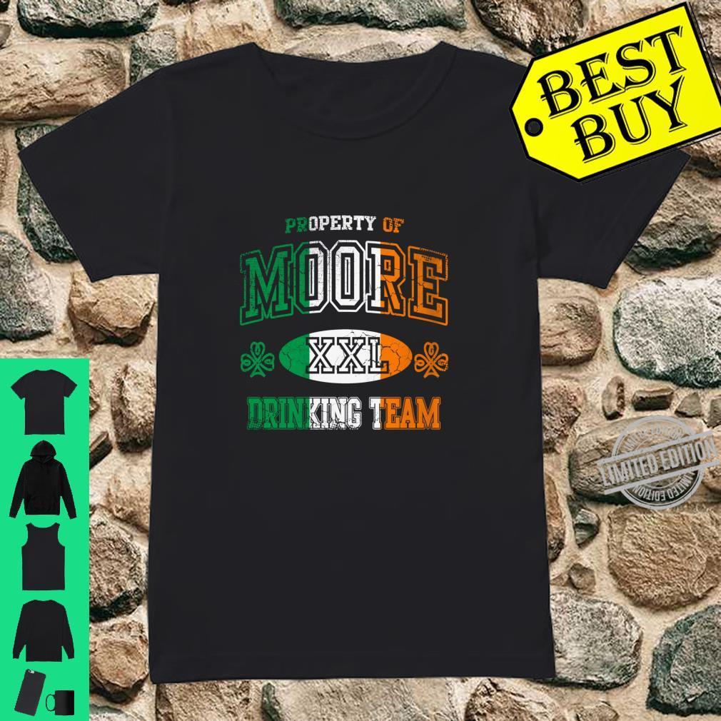 Moore Irish Drinking Team St Patricks Day Family Surname Shirt ladies tee