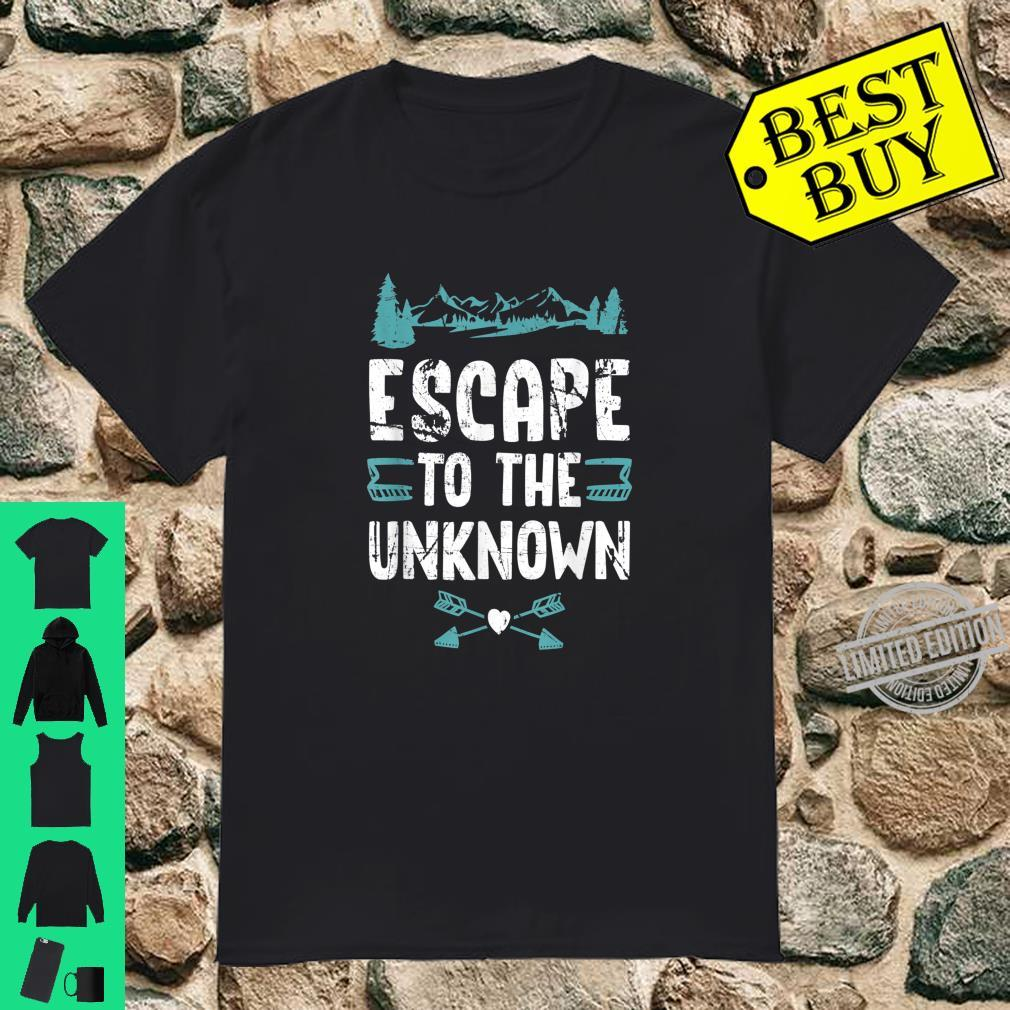 Mountain Escape To The Unknown Hiker Vacation Outdoor Shirt