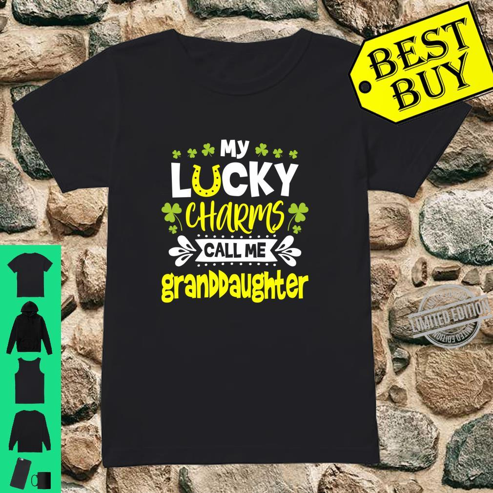 My Lucky Charms Call Me Granddaughter St. Patrick's Day Shirt ladies tee