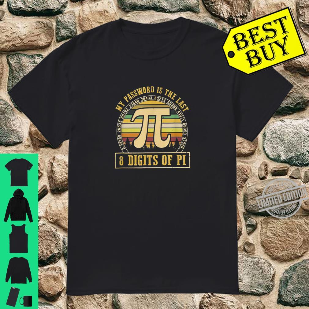 My Password Is The Last 8 Digits Of Pi Retro Vintage Math Shirt