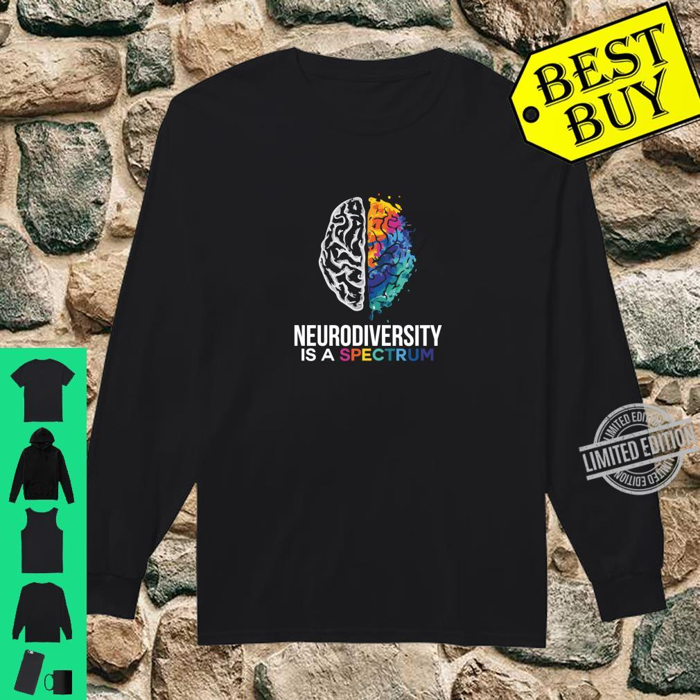 Neurodiversity Is A Spectrum For Autism and Special Ed Shirt long sleeved
