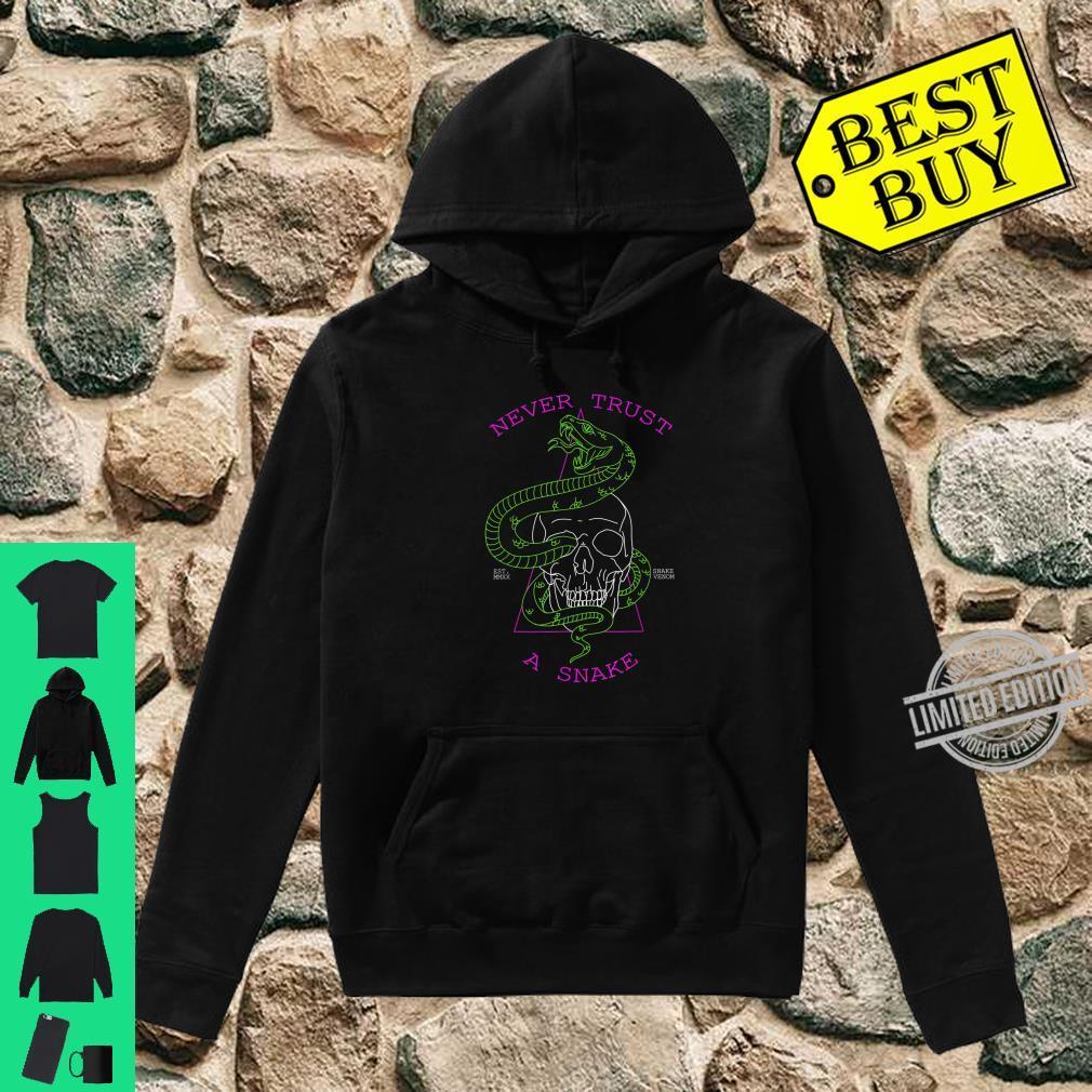Never Trust A Snake Skull & Snake Shirt hoodie