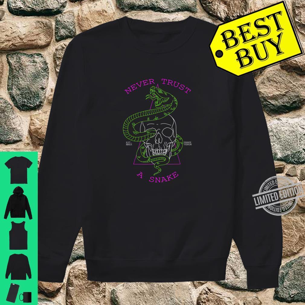 Never Trust A Snake Skull & Snake Shirt sweater