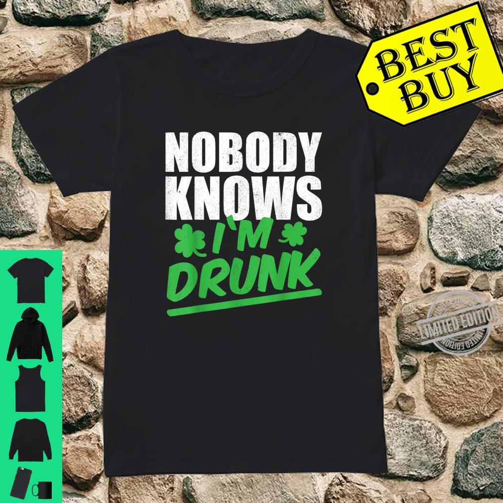 Nobody Knows I'm Drunk St Patricks Day 2020 Shirt ladies tee