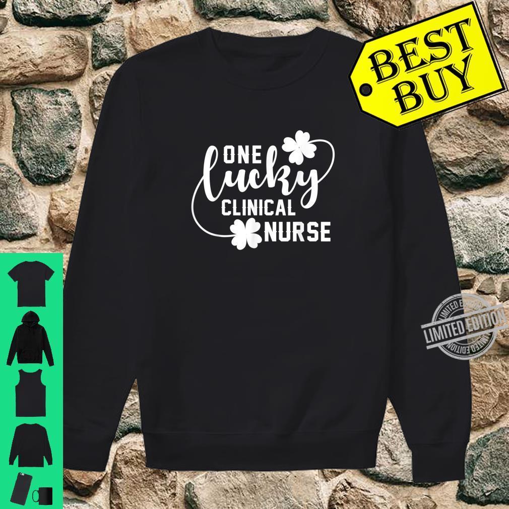 One Lucky Clinical Nurse St Patrick Shamrock Shirt sweater